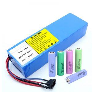 Batteria al litio 18650 Batteria ricaricabile per scooter agli ioni di litio da 60 V 12 Ah