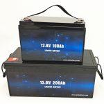 Batteria solare Deep Cycle LiFePO4 12V 100Ah / 200Ah Batteria agli ioni di litio per carrello da golf