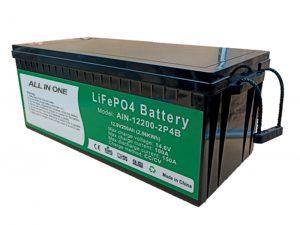 ALL IN ONE 2.56KWh 2000 cicli 12v batteria lifepo4 batteria al litio 200ah per veicolo elettrico