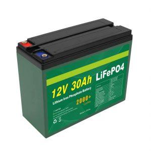 OEM Batteria ricaricabile 12V 30Ah 4S5P Litio 2000+ Produttore di celle Lifepo4 a ciclo profondo
