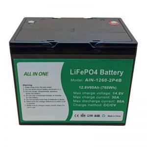 ALL IN ONE Batteria cilindrica al litio da 2000 cicli Batteria 12v60Ah per accumulo di energia