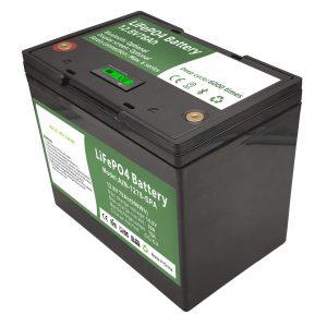 Batteria al litio ricaricabile a celle cilindriche da 12 volt 70ah accumulatore solare