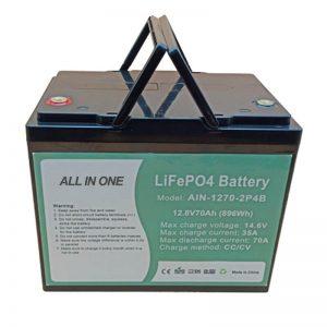 Batteria ricaricabile 896Wh lifepo4 12V 70Ah per vechile elettrico