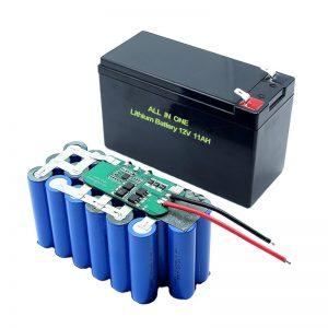 ALL IN ONE 18650 3S5P Batteria al litio da 12Volt 11Ah Batteria al litio ricaricabile