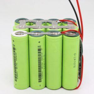 Batteria a ciclo profondo 18650 al litio 4s3p impermeabile personalizzata all'ingrosso con batteria a ciclo profondo 12v 10AH per utensile elettrico