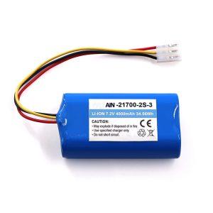 Batteria al litio per torcia OEM 21700 7.2V 4800mAh Li-ion Pack