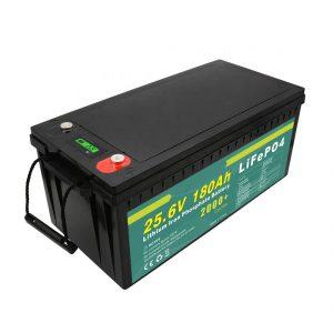Pacco batteria ricaricabile 24v180ah (LiFePO4) per lampione solare