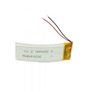 Batteria LiPO personalizzata 302045 3,7 V 260 mAh