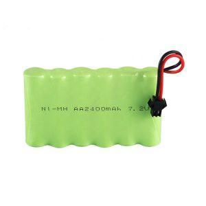 Batteria ricaricabile NiMH AA 2400 mAh 7,2 V.